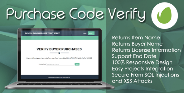 Envato - Purchase Code Verify Script